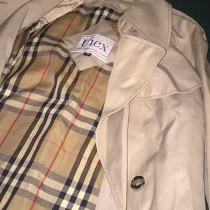 Designer trench coat